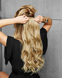 "1PC 22"" CURLY CLIP-IN HAIR  EXTENSIONS"