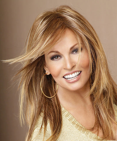 Raquel Welch Always  Curl it full and fabulous or iron it stick-straight. This silhouette of long, luxurious layers will always look great! Tru2Life® synthetic hair makes your styling options limitless!     Memory Cap® II Tru2Life Heat Styleable Synthetic Hair