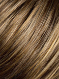 8/26-830 | Medium Ash Brown blend with Dark Honey Blonde on the top, with a Medium to Light Reddish Brown nape