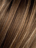 TOBACCO-ROOTED | Medium Brown base with Light Golden Blonde highlights and Light Auburn lowlights and Dark Roots