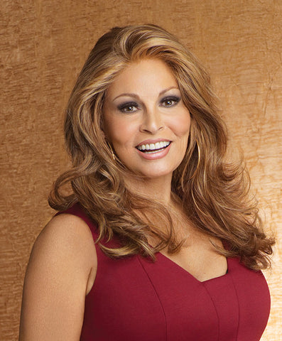 Raquel Welch Limelight  Long, layered waves highlight this sensual silhouette that falls to below mid-back. Wear it softly waved right out of the box or style it straight. The lace front Sheer Indulgence™ top and Tru2Life® synthetic hair means your styling options are virtually limitless!     Sheer Indulgence™ Lace Front Monofilament Top Memory Cap® II Base Tru2Life Heat Styleable Synthetic Hair
