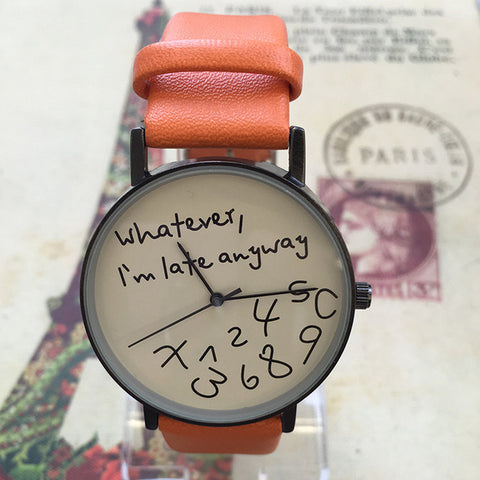 Creative Sporty Leather Watch for Women