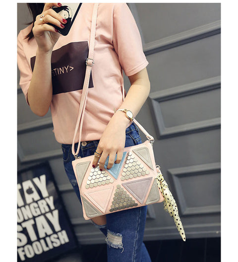 Luxury Designer Patchwork Messenger Clutch Bag for Women