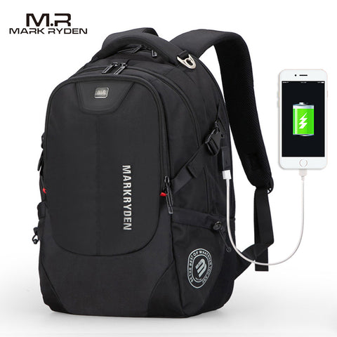Men´s Portable Laptop Backpack With Disposable Charger Strap