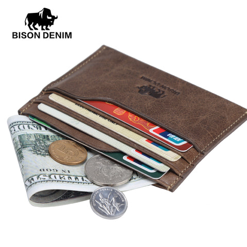 Small Genuine Leather Card and Money Holder