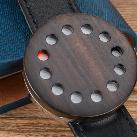 12 Holes Wooden Designed Watch