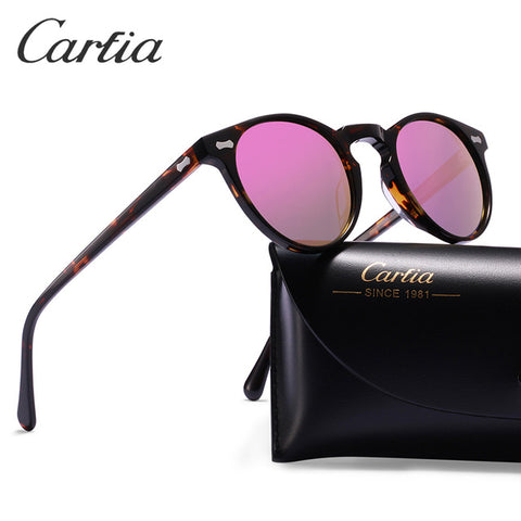 CARFIA Classic Oval Sunglasses for Women