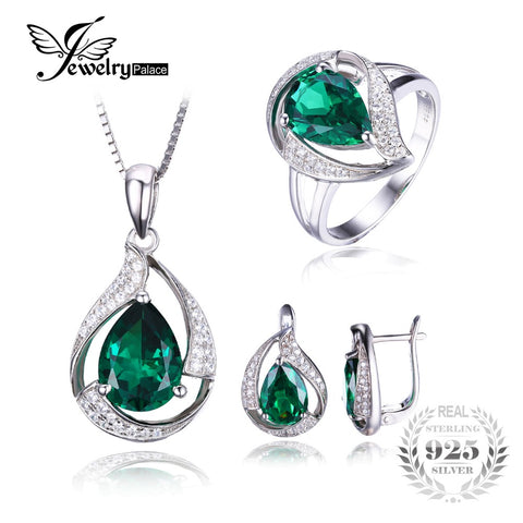 Water Drop and Silver Jewelry Set