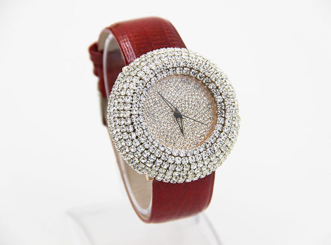 LIMITED EDITION - Full Diamond Inlaid Belt Watch for Women
