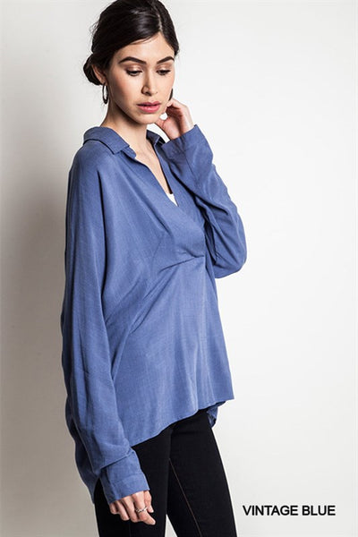 Oversized Blue Blouse