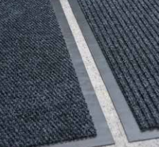 Moat/Linear Brown Floor Mat