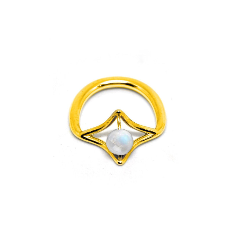 PLAITLY Petal Ring with Moonstone