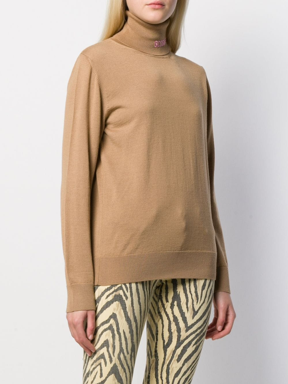GCDS Logo Print Turtleneck Sweater