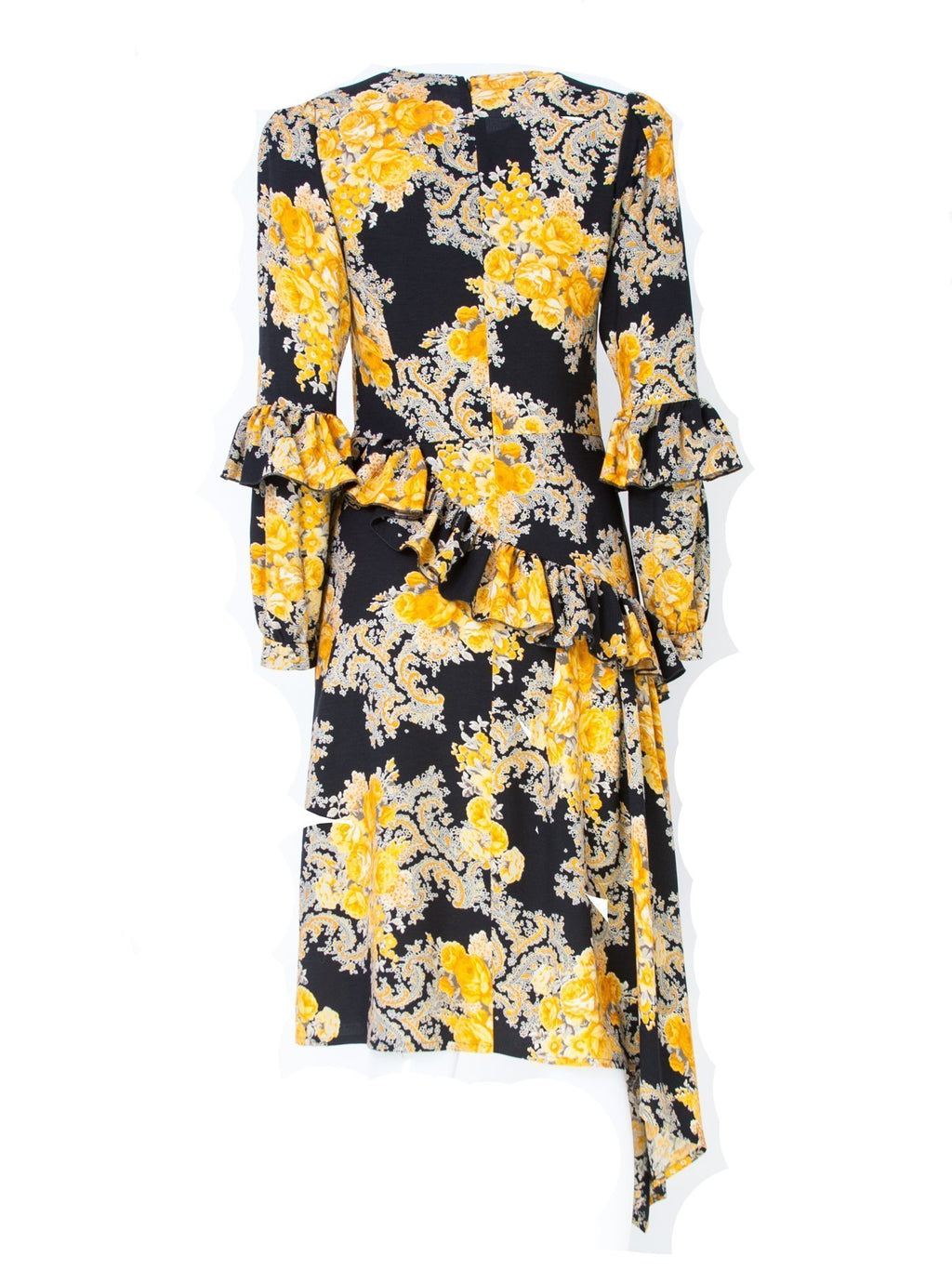 Nolo Floral Print Asymmetric Midi Dress