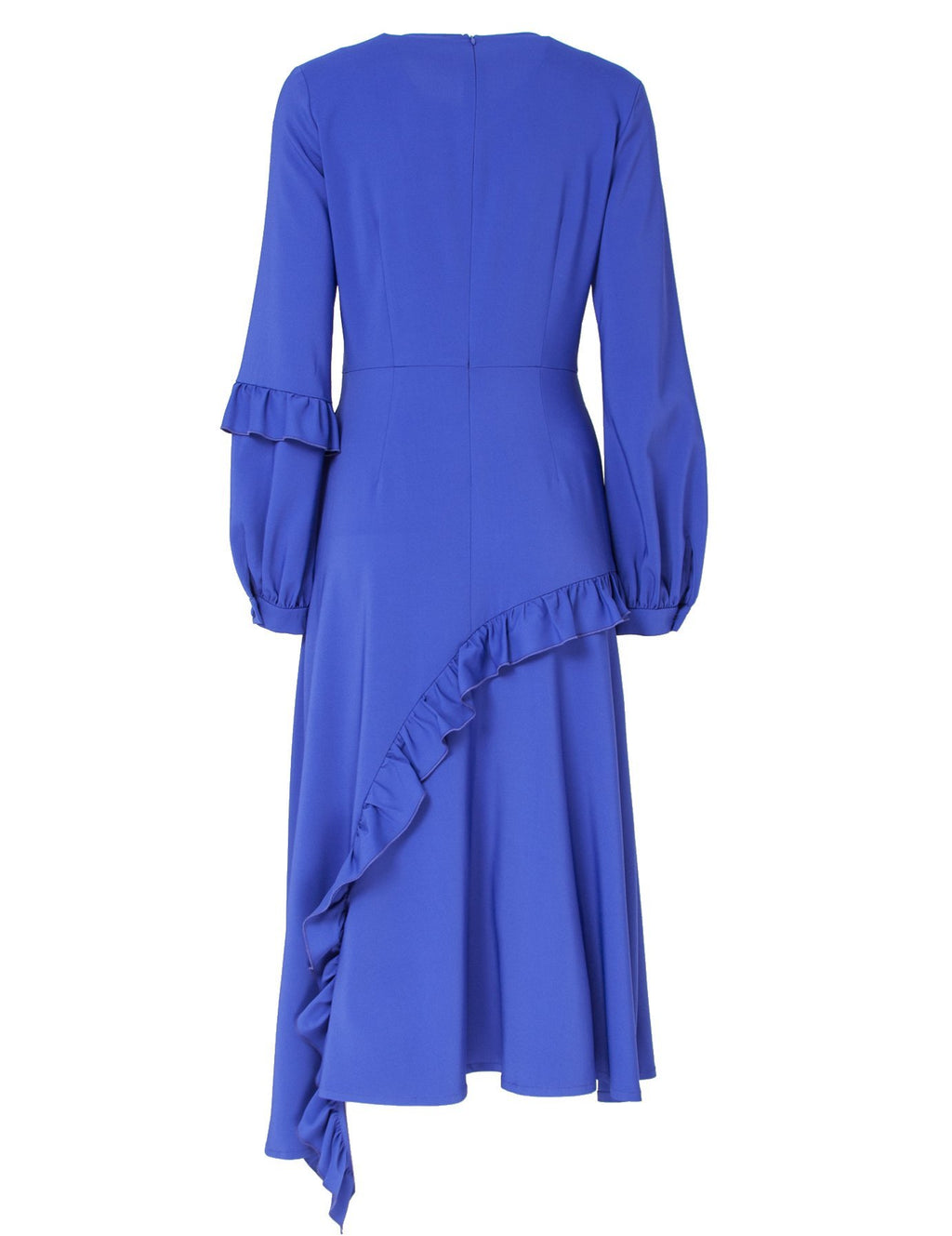 Nolo Bright Violet Midi Dress With Frills