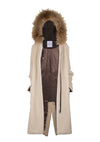Monica & Mobline Racoon Triming Fur Coat