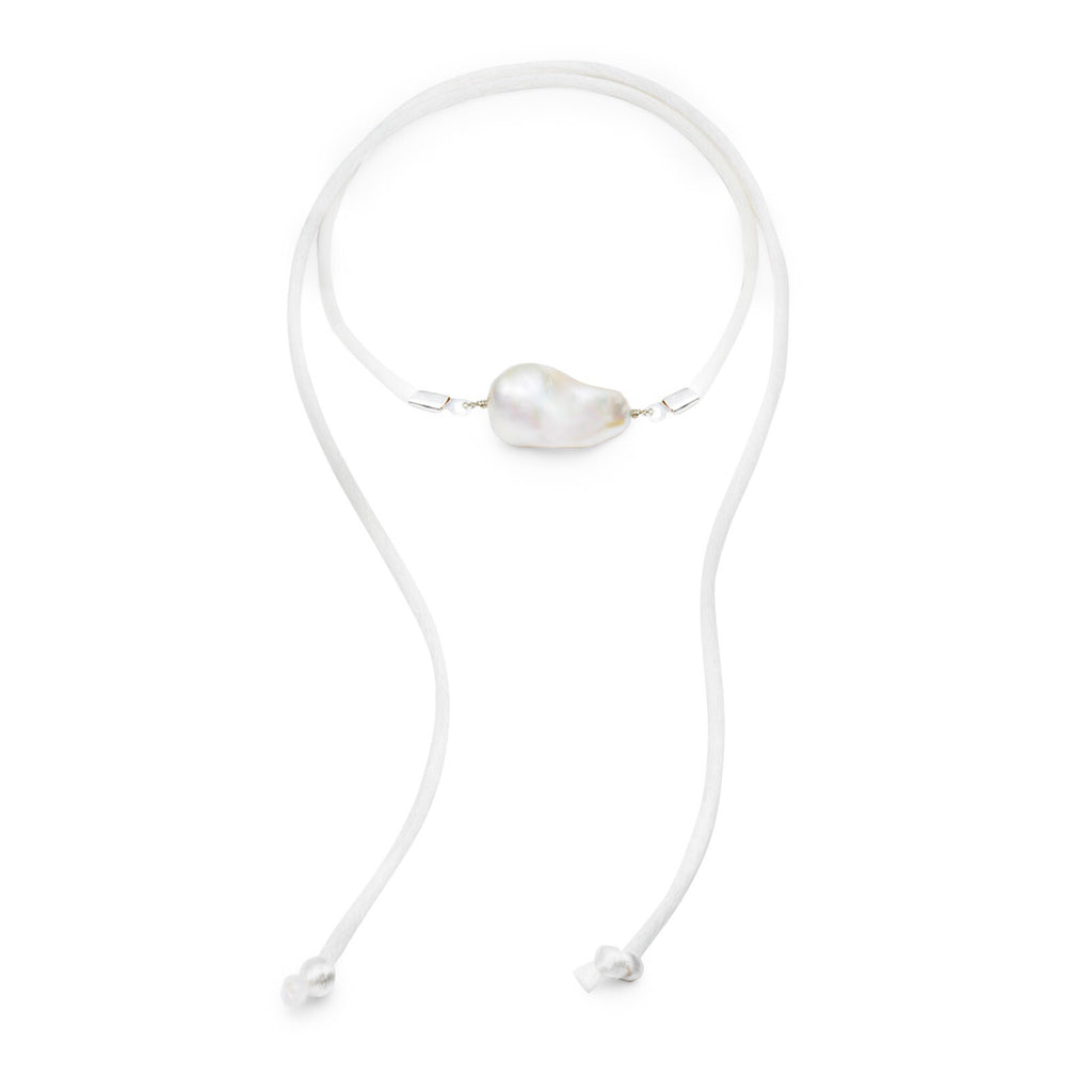 Joaillerie Baroque Freshwater Pearl & Satin Convertible Necklace / Anklet