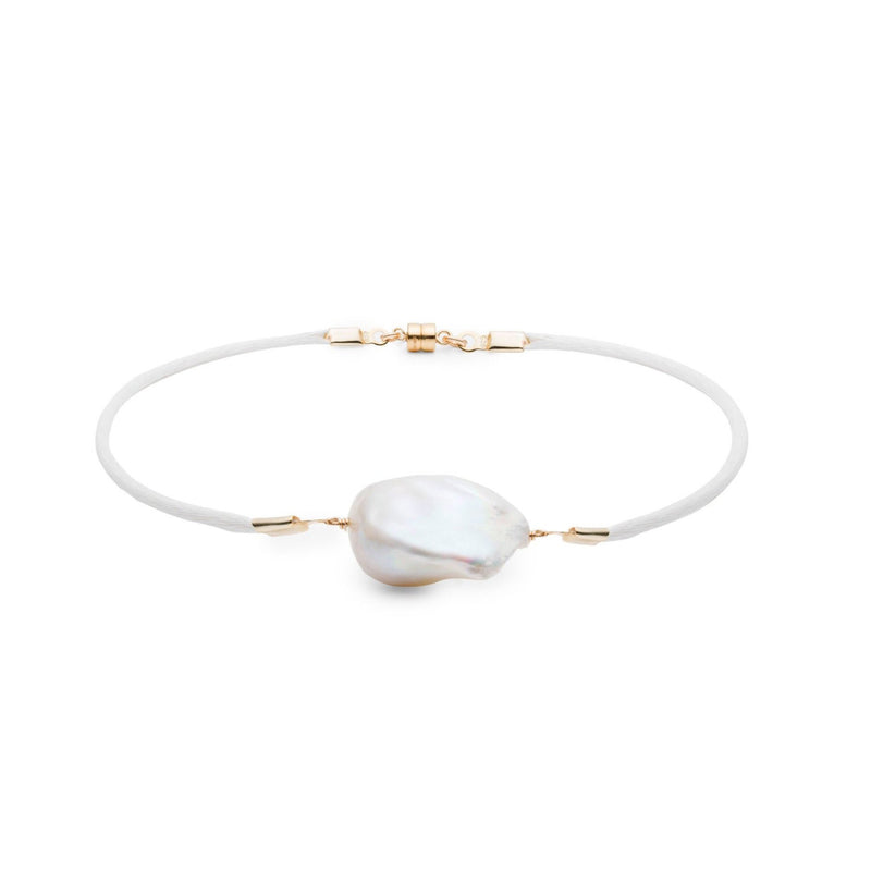 Jean Joaillerie Baroque Freshwater Pearl & Satin Anklet