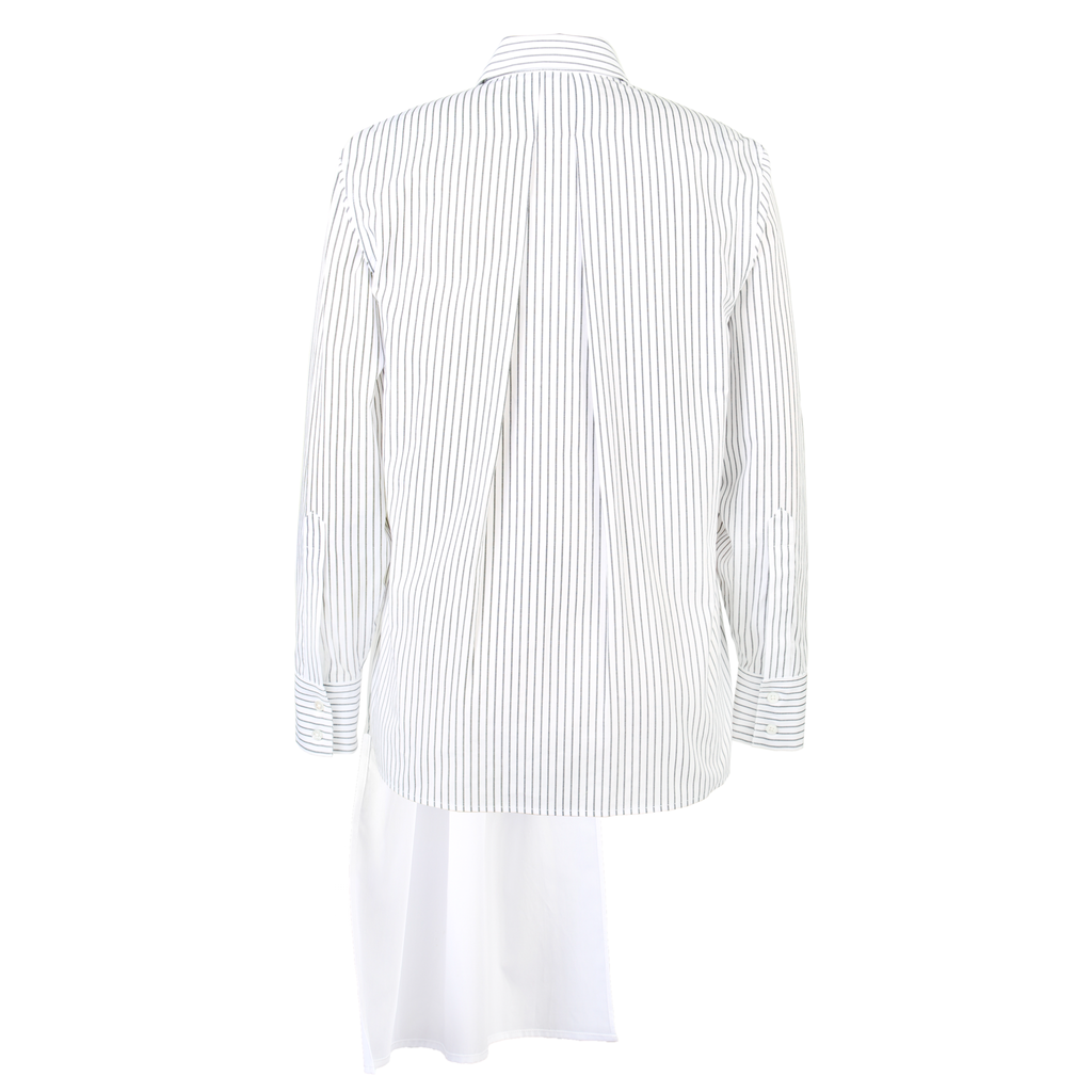 2WN Ame Half Body Pleated Color-Blocked Shirt-Tops-DREEMS