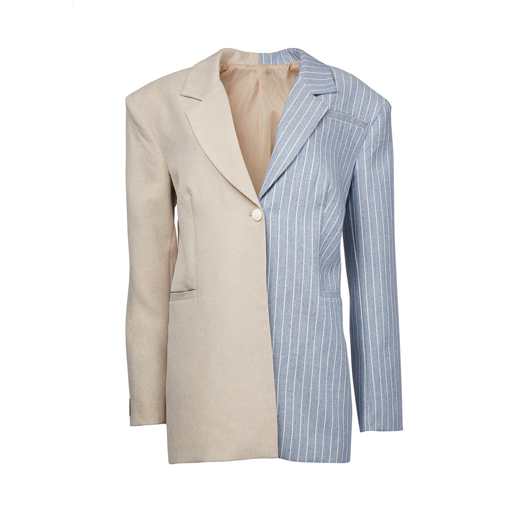 Guvanch White and Blue Blazer 9