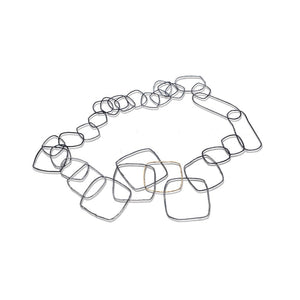 Large Square Links Necklace