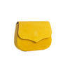 Alef Aniron Yellow Suede Leather Saddle Bag