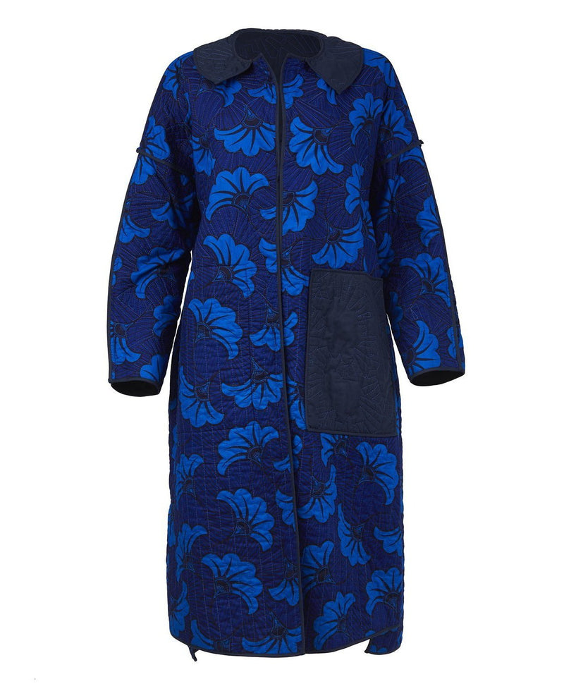 Buki Akomolafe Reversible Long Quilt Coat