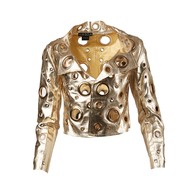 Grommet Jacket Gold