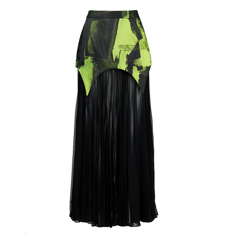Ezie Designs Abstract Green Skirt