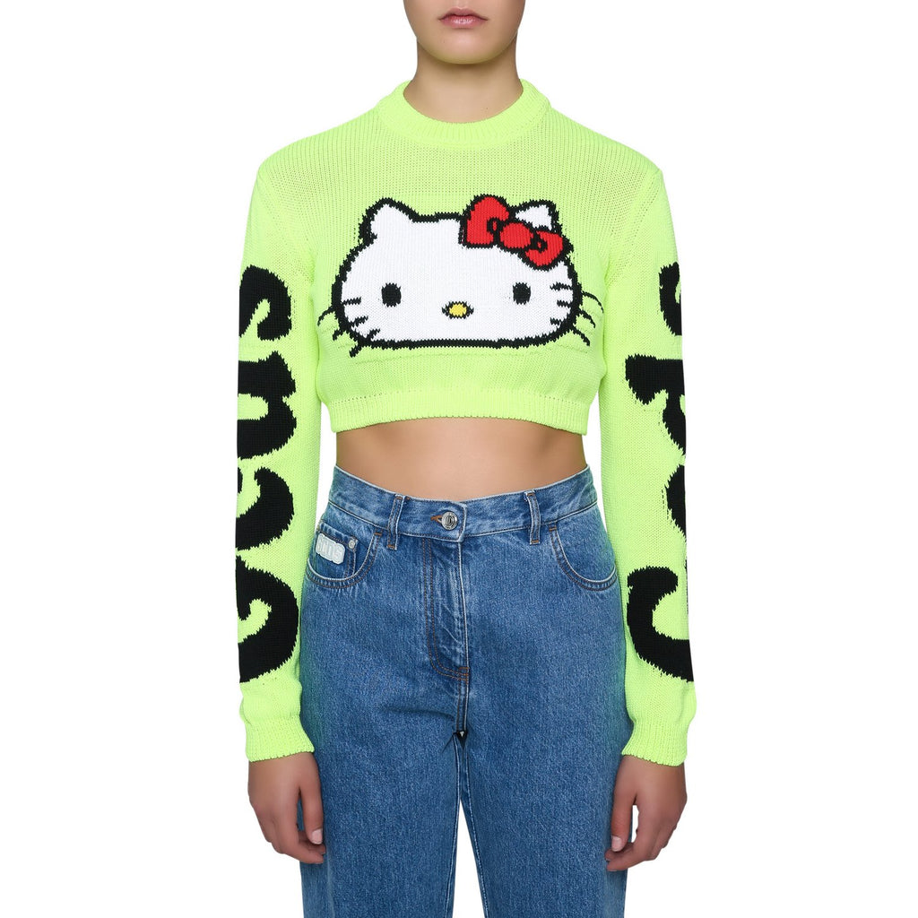 GCDS Hello Kitty Cropped Sweater