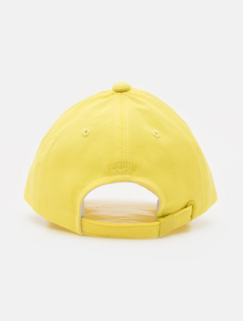 Juun.J Yellow Embroidered Logo Ball Cap