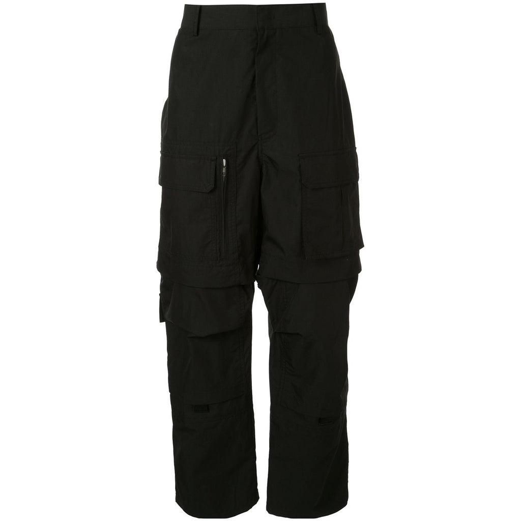 Juun.J Dropped Crotch Cargo Trousers