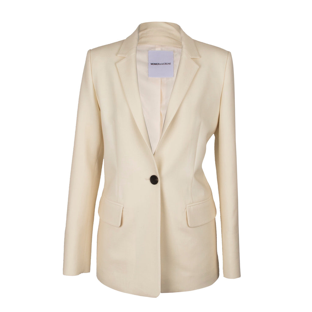Monica & Mobline Single Button Tailored Jacket White