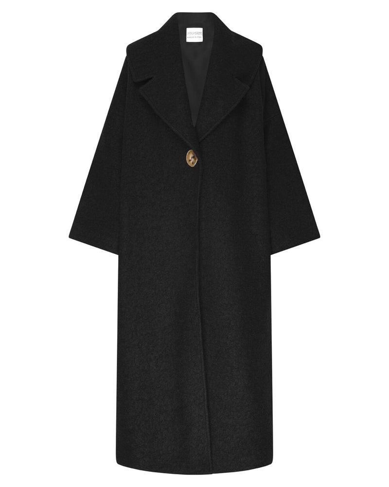 Jet Black Blanket Coat