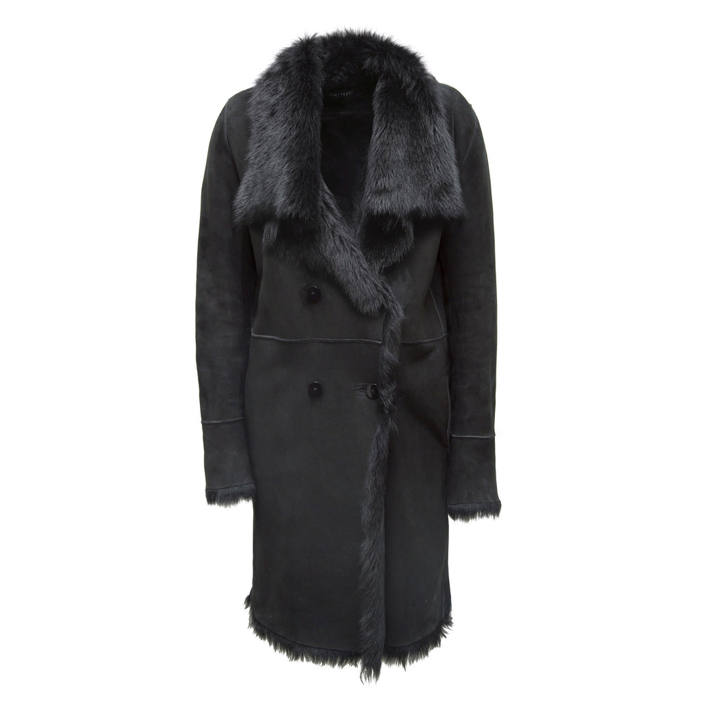 KOJA Black Toscana Shearling Coat