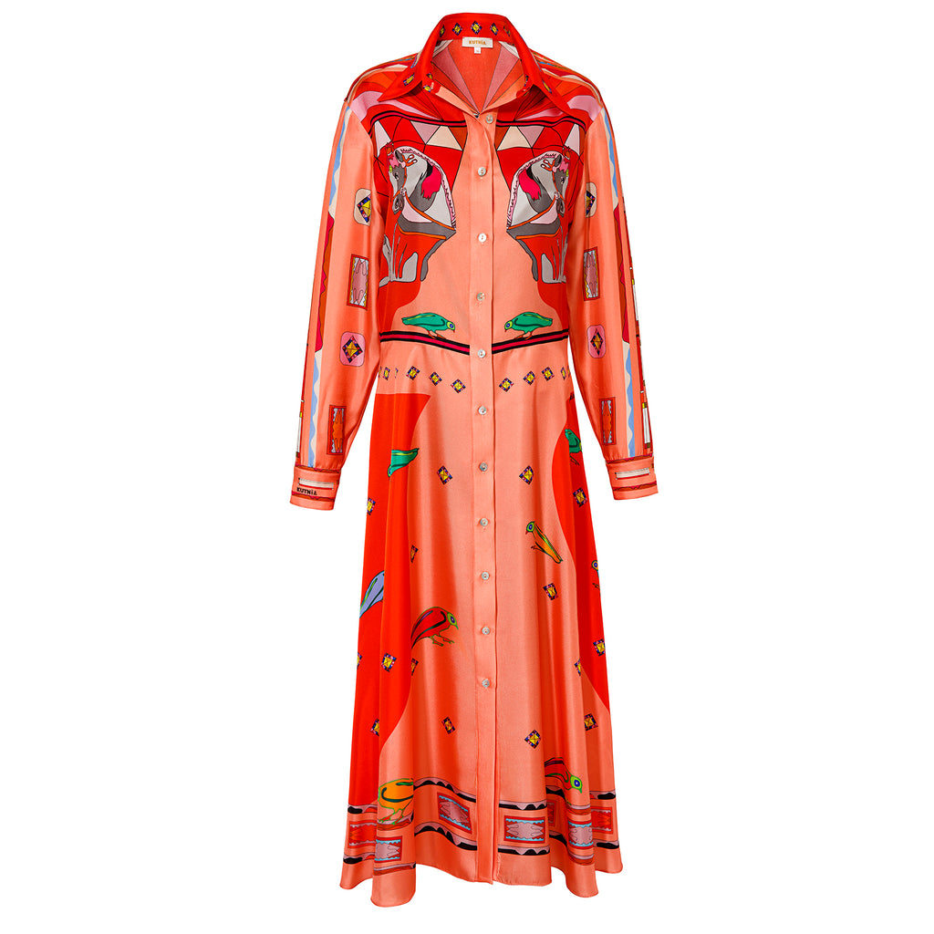 Kutnia Silk Long Zeugma Dress