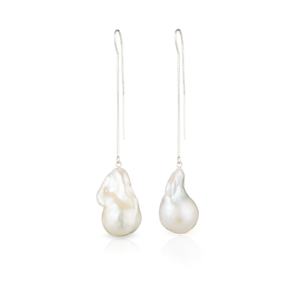 Jean Joaillerie Baroque Freshwater Pearl Earrings-3 Inch