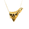 Plié Triangle Pendant Necklace