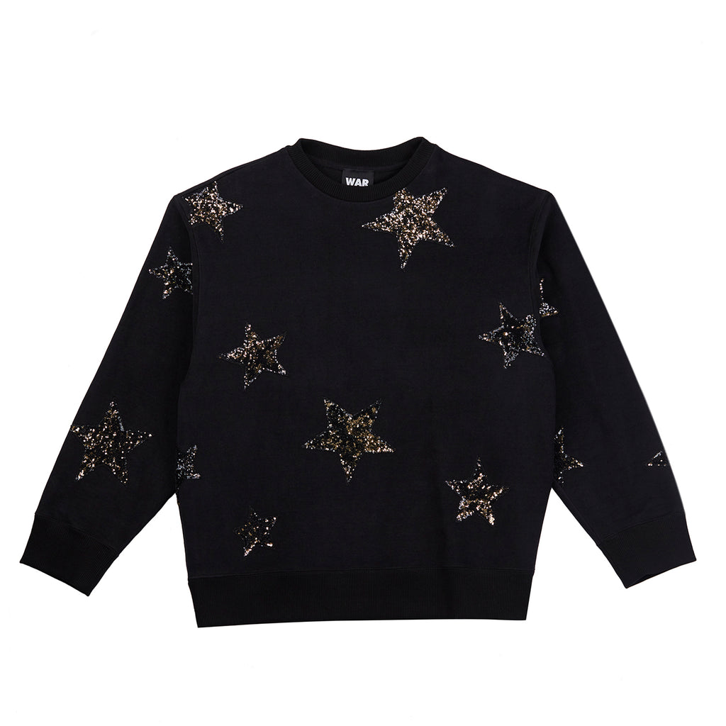 Star Sequin Sweatshirt Black