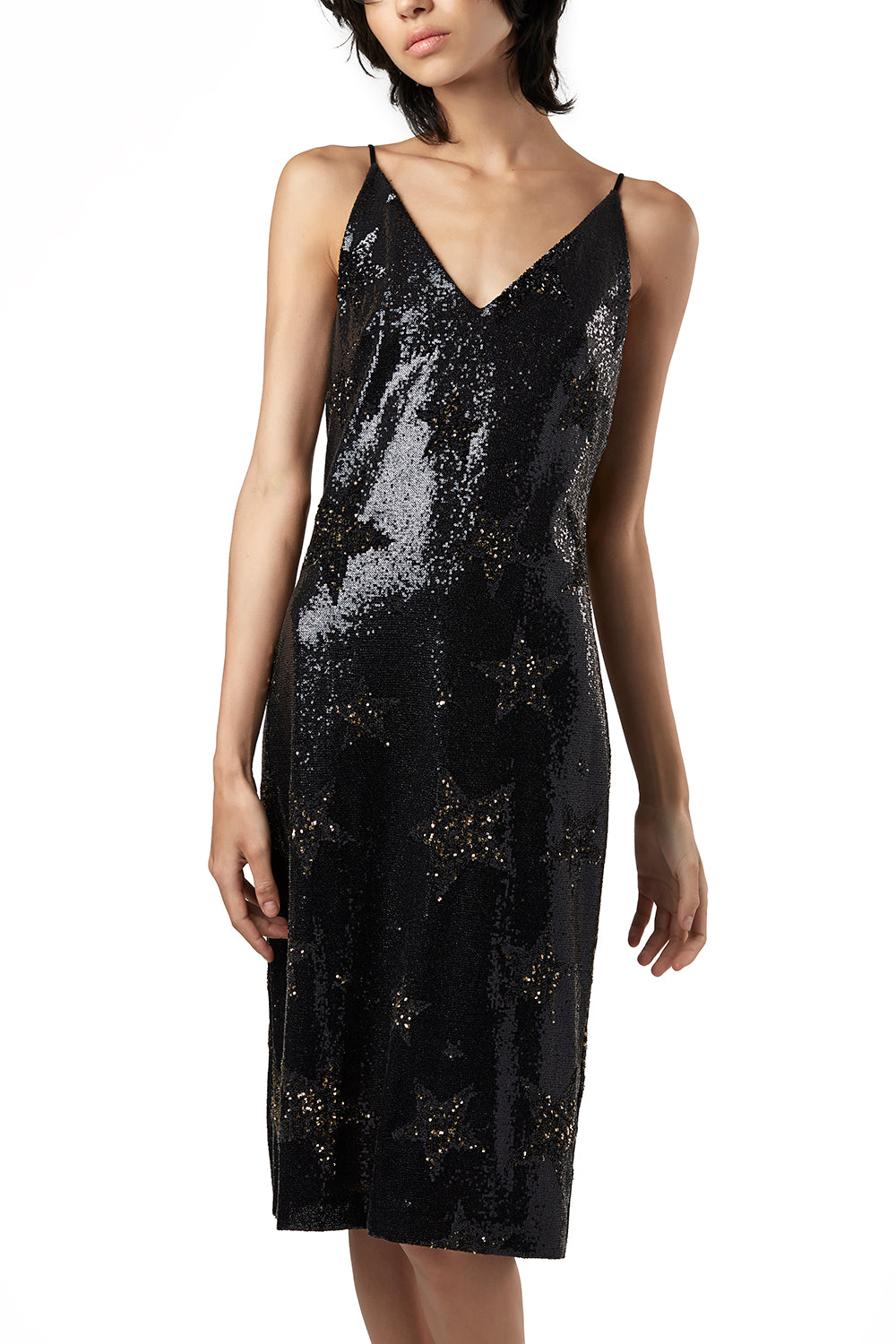 WARDOG Star Sequin Slip Dress