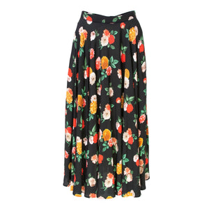 Nolo Multicolored Floral Print Midi Skirt