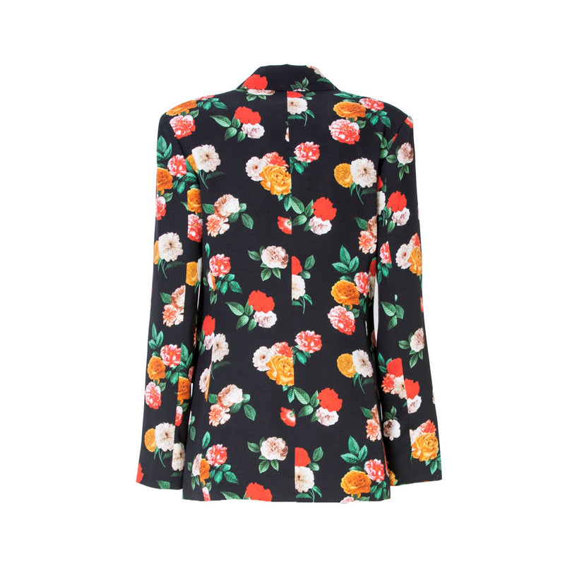 Nolo Floral Print Long Sleeve Blazer With Lining