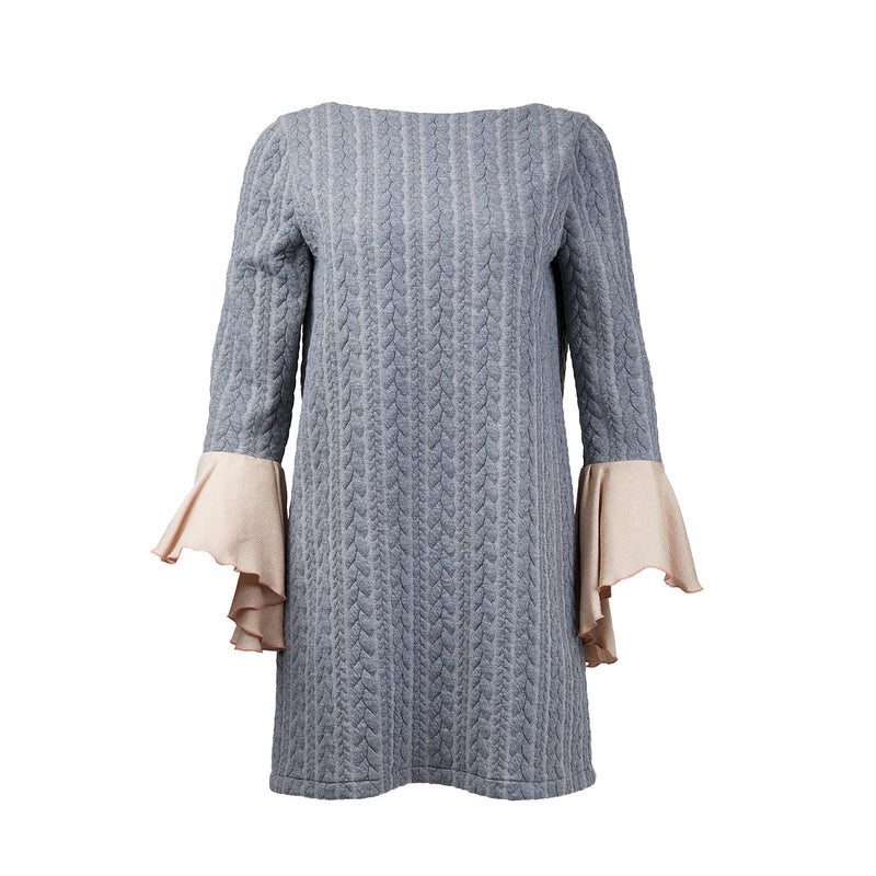 Whispering Wind Knitted Patterned Oversize Dress
