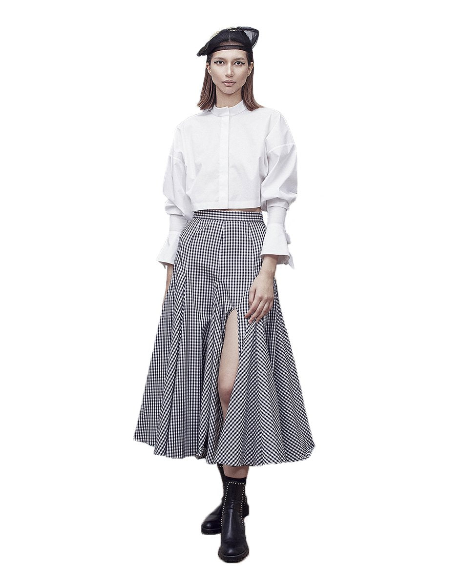 Alima Plaid Skirt-Bottoms-DREEMS