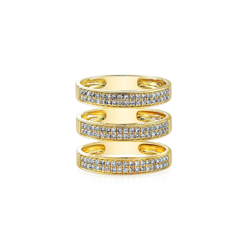 Anne Sisteron Large Triple Bar Ring-Rings-DREEMS