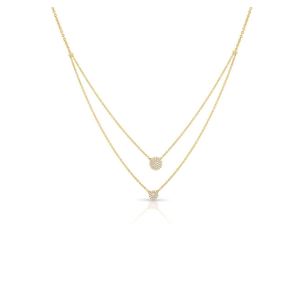 Anne Sisteron 4KT Yellow Gold Diamond Mikaila Double Layer Necklace