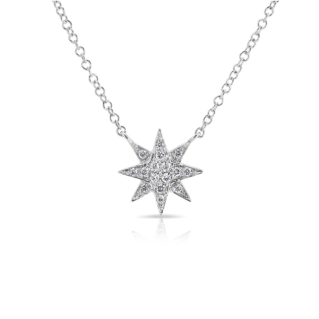Anne Sisteron 14KT White Gold Diamond Starburst Necklace
