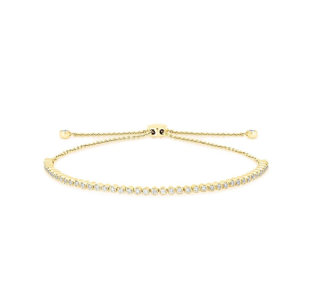 Anne Sisteron 14KT Yellow Gold Diamond Brittany Tennis Tie Up Bracelet