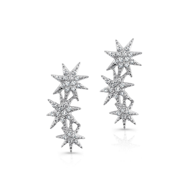 Anne Sisteron Triple Starburst Earrings-Earrings-DREEMS