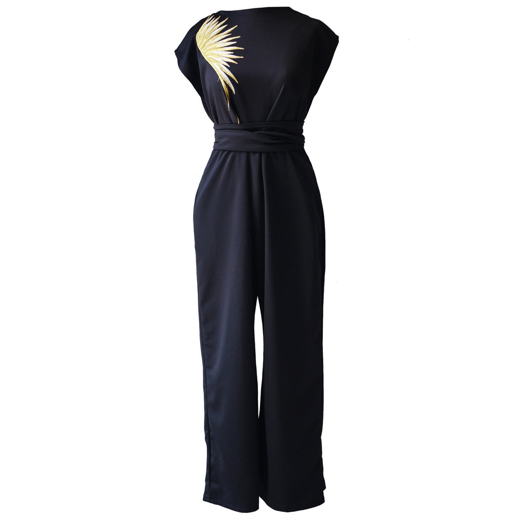 Ans.ein Golden Wings Jumpsuit-Dresses-DREEMS
